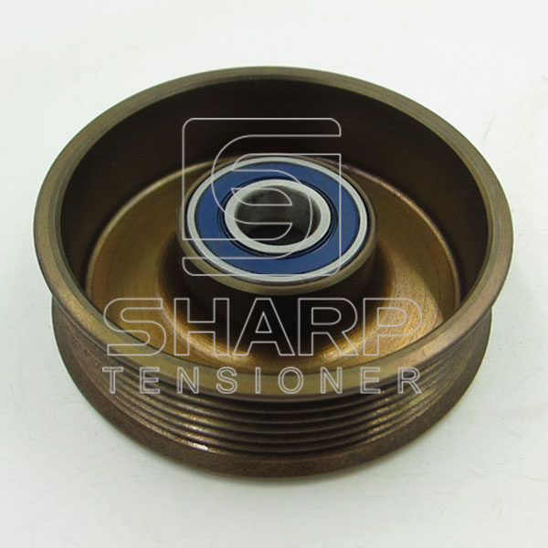 FORD 1077689  1004475 96MF6A228AC 96MF6A228AD Tensioner Pulley, v-ribbed belt