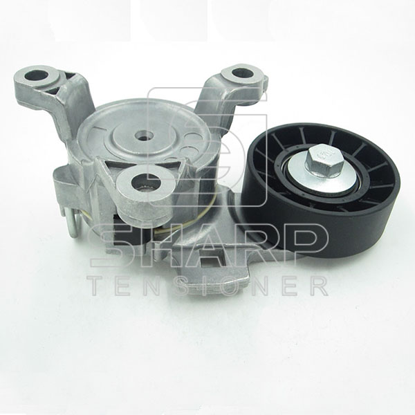 PEUGEOT 9663566180 Belt Tensioner, v-ribbed belt