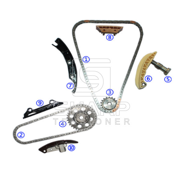 volkswagen 021109467 066109513a timing chain kit